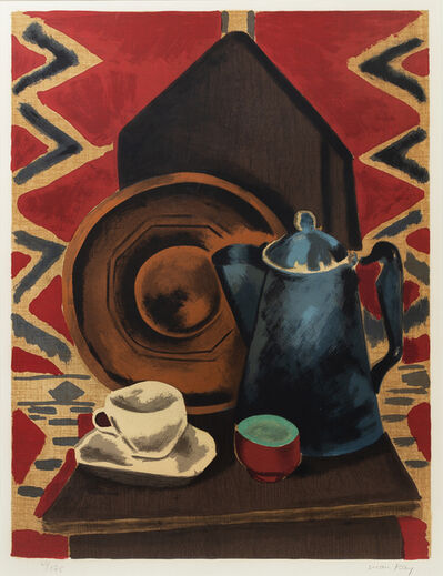 Man Ray, 'Still life with coffee pot cup and saucer'