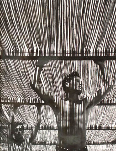 Herbert List, 'Young Men Under Reed Roof, Torremolinos, Spain', 1951