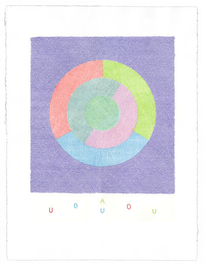 Brian O'Doherty, 'Rotating Vowels iii (Available as a set of 5)', 2014-2016