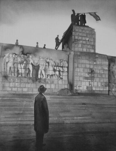 Radenko Milak, 'HUNGARY. Budapest. Insurrection. October-November 1956. A pair of bronze boots is all that is left of huge Stalin monument ', 2019