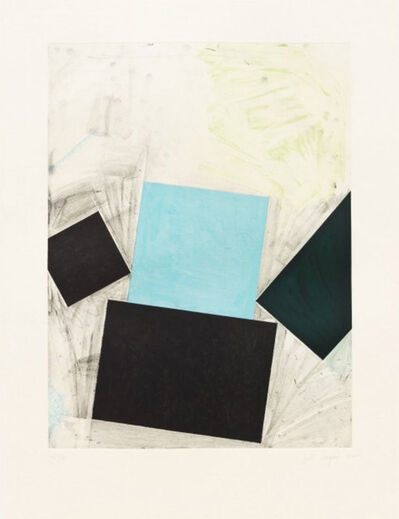 Joel Shapiro, 'Untitled (Blue Square with Green)', 1992