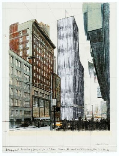Javacheff Christo, 'Wrapped Building, Times Square', 2003