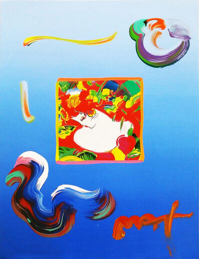 Peter Max, 'FLOWER BLOSSOM LADY (OVERPAINT)', 2010