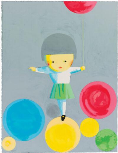 Liu Ye 刘野, 'Little Girl With Balloons (Signed), 2001', 2001