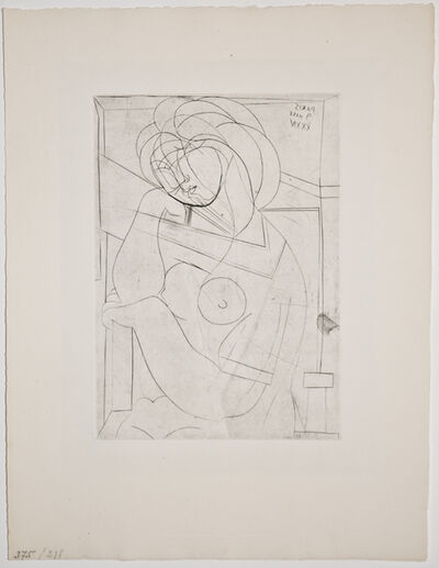 Pablo Picasso, 'Femme au Fauteuil songeuse, la Joue sur la Main (S.V. 21)', 1934