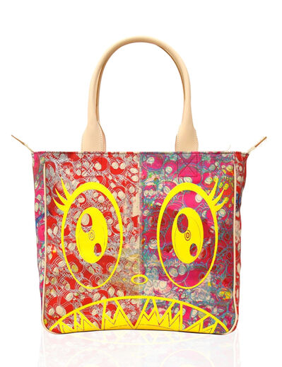 Takashi Murakami, 'Canvas Handbag - Red Skulls / Yellow / Flowers Interior * ', 2019