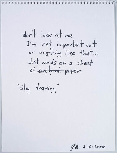 Gordon Bennett, 'Untitled (Shy Drawing)', 2000