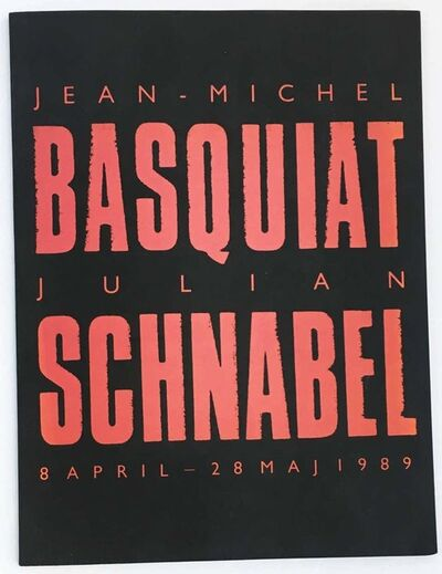 Jean-Michel Basquiat, 'Basquiat Julian Schnabel 1980s exhibition catalog', 1989