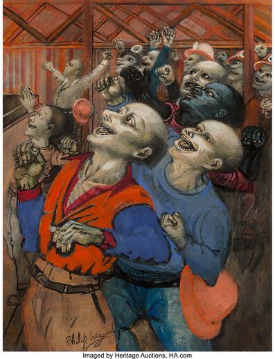 Philip Evergood, 'The Cheering Crowd'