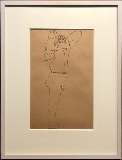 Andy Warhol, 'Standing Male Figure', 1955