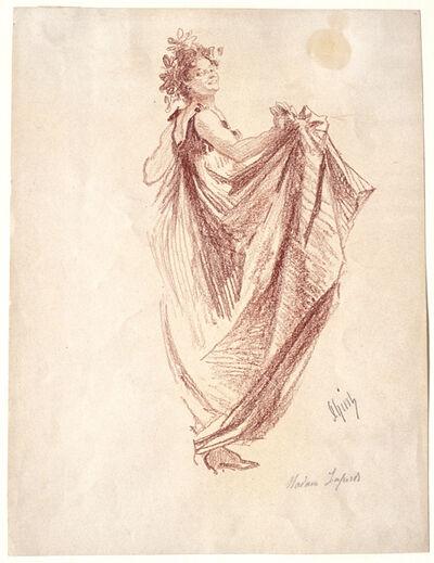 Jules Chéret, 'Léonie Laporte as a Bacchante.', ca. 1900