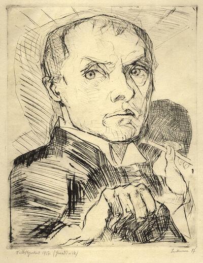 Max Beckmann, 'Selbstbildnis mit Griffel', ca. 1916