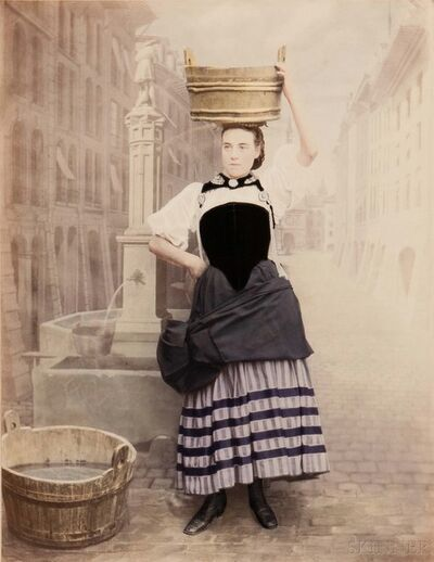 Adolphe Braun, 'Costumes de Suisse, Canton de Berne', c. 1869