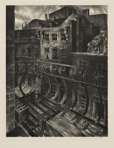 Stow Wengenroth, 'City Street (New York, New York)', 1933
