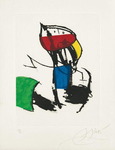 Joan Miró, 'Chanteur des rues III', 1981
