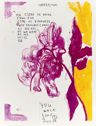 Werner Mannaers, 'You walk like a poem', 2021