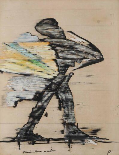 Irving Petlin, 'Black stone archer', 1966