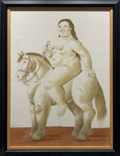 Fernando Botero, 'Woman on a horse', 2004