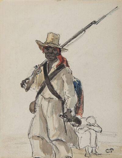Camille Pissarro, 'Vénézuélien au fusil', 1855-1860