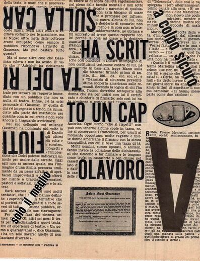 Nanni Balestrini, 'Ha scritto ', 1962