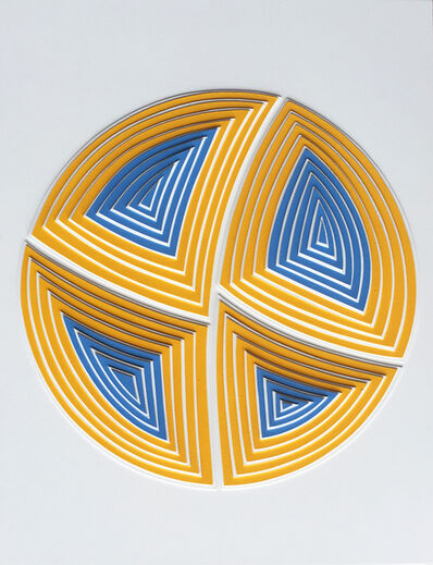 Elizabeth Gregory-Gruen, ''Blue & Yellow Circle-Out'', 2017