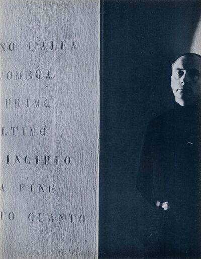 Vincenzo Agnetti, 'Vincenzo Agnetti, Ritratto di Eroe', 1971