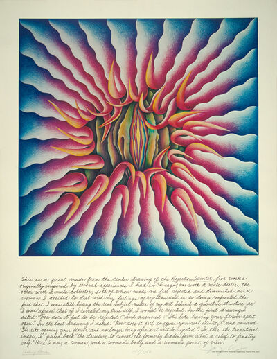 Judy Chicago, 'Peeling Back', 1974
