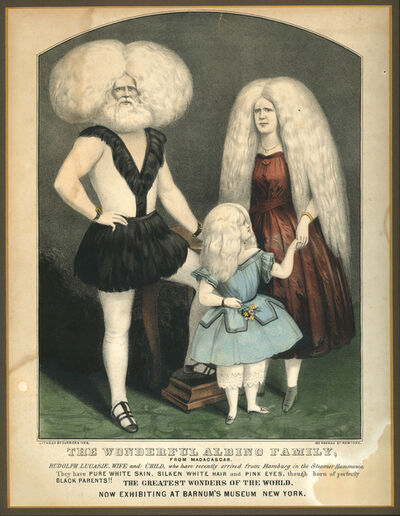 Currier & Ives, 'The Wonderful Albino Family, from Madagascar … now exhibiting at Barnum's Museum in New York', ca. 1860