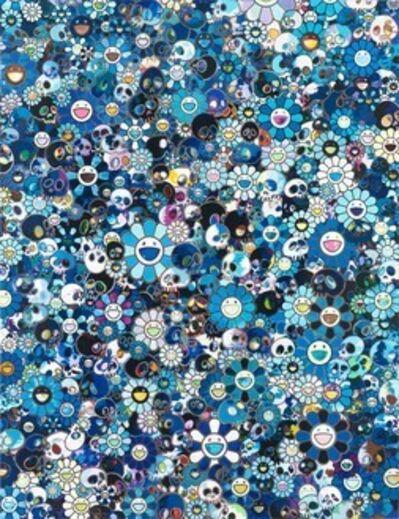 Takashi Murakami, 'Skulls and Flowers - Blue', 2013