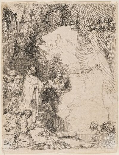 Rembrandt van Rijn, 'The Raising of Lazarus: the Small Plate', 1642