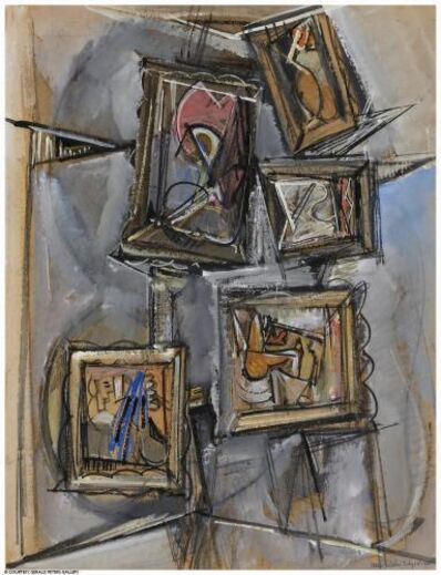 Max Weber, 'Composition of Abstract Paintings', 1955