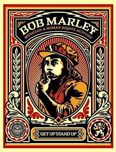 Shepard Fairey, 'Bob Marley Stamp', 2004