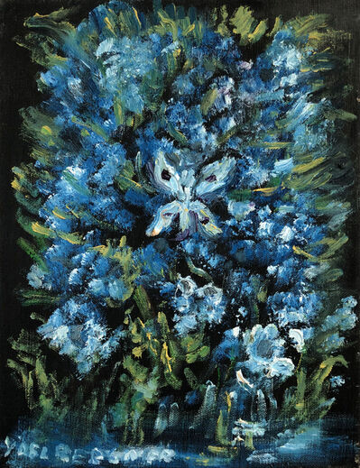 Yosl Bergner, 'Swamp flowers and butterfly', 2013
