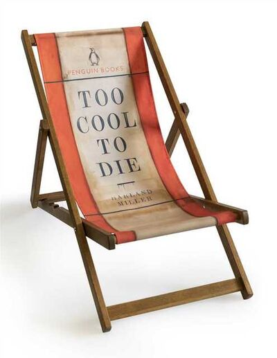Harland Miller, 'Too Cool To Die (Deck Chair)', 2013