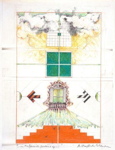 "Barbara Stauffacher Solomon, '""…in the Spanish gardens of…""', ca. 1979-1987"