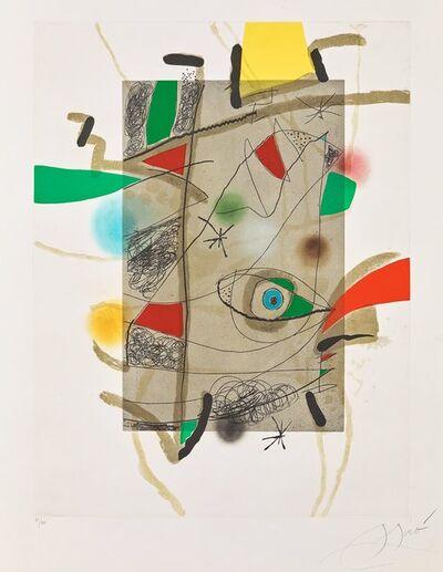 Joan Miró, 'Llibre dels sis sentits III', 1981