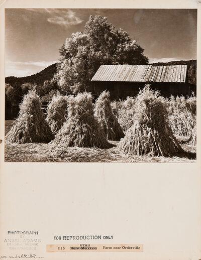 Ansel Adams, 'Farm Near Orderville, Utah', c. 1958