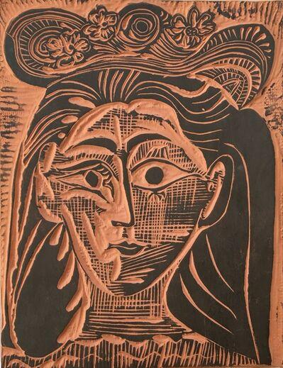 Pablo Picasso, 'Femme au chapeau fleuri (A. R. 521)', 1964