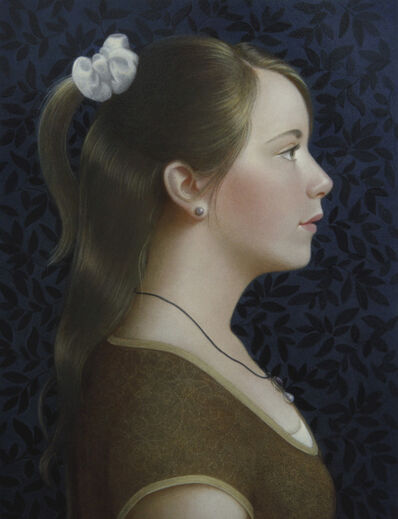 Koo Schadler, 'Girl with White Scrunchie', 2014