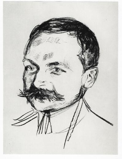 Edvard Munch, 'Bildnis Dr. Wilhelm Wartmann', 1922