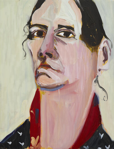 Chantal Joffe, 'Self-Portrait, February', 2019