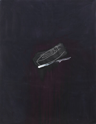 Bruce McLean, 'Black Ship / Red Wine Sea', 1985