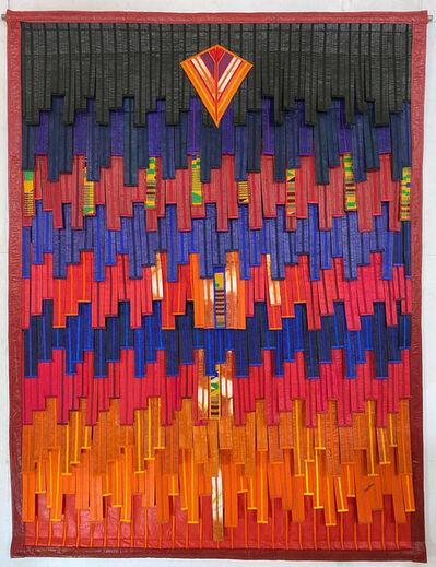 Abdoulaye Konaté, 'Rouge Bleu au Kente', 2020
