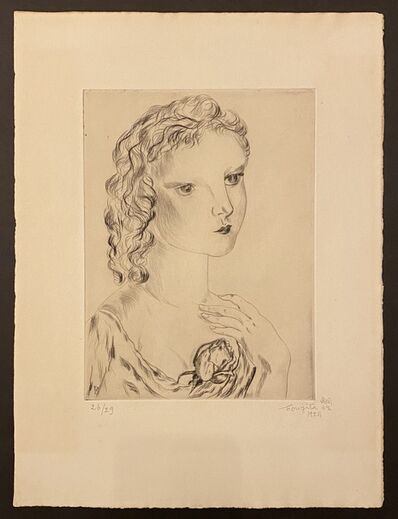 Léonard Tsugouharu Foujita, 'Jeune Femme à la Rose', 1925