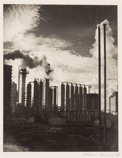 Horace Bristol, '[Industrial smokestacks]', 1933