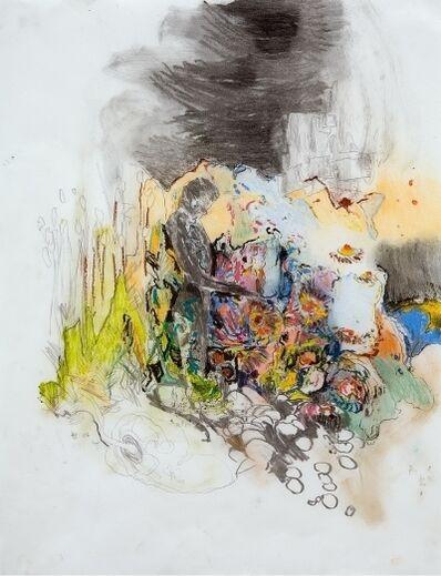 Hernan Bas, 'Figure in Garden (from the Great Barrier Wreath series)', 2006
