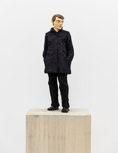 Stephan Balkenhol, 'Man with Dark Blue Jacket', 2019