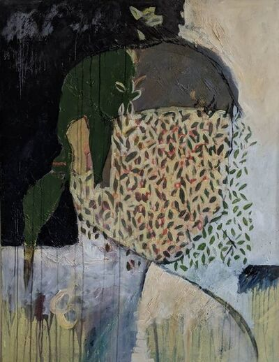 Emilia DeVitis, 'Portrait with leaves', 2016