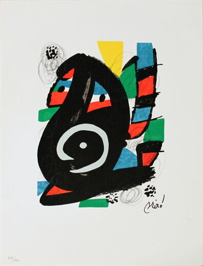 Joan Miró, 'Untitled from La Melodie Acide XVIII', 1980