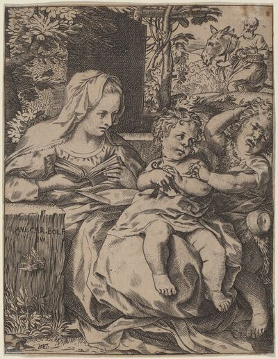 Annibale Carracci, 'The Madonna of the Swallow', 1587